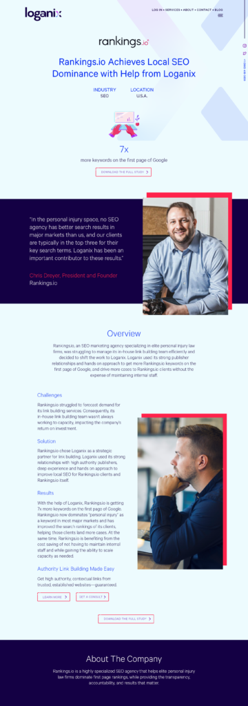 Case study HTML - desktop