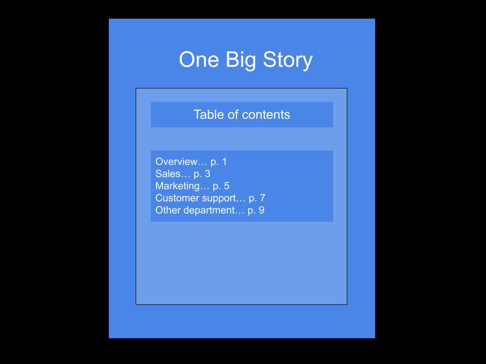One big case study story