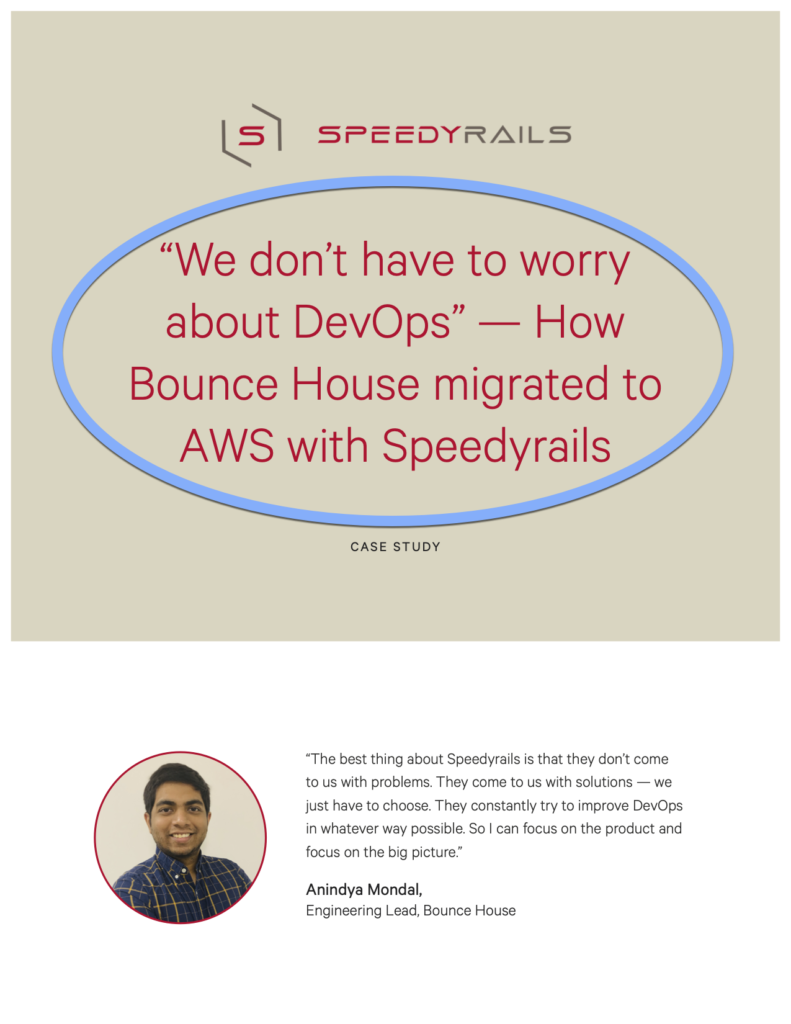 Bounce House - Snapshot - Speedyrails Case Study title page