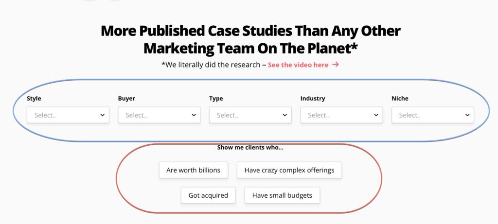 Innovative case study filter